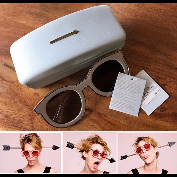 c24d437df39 Karen Walker Gaga Super Spaceship Gold Sunglasses